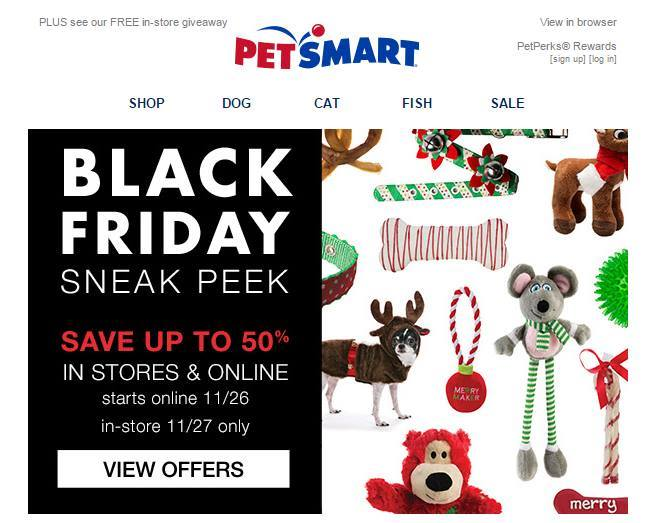 Black Friday PetSmart ad