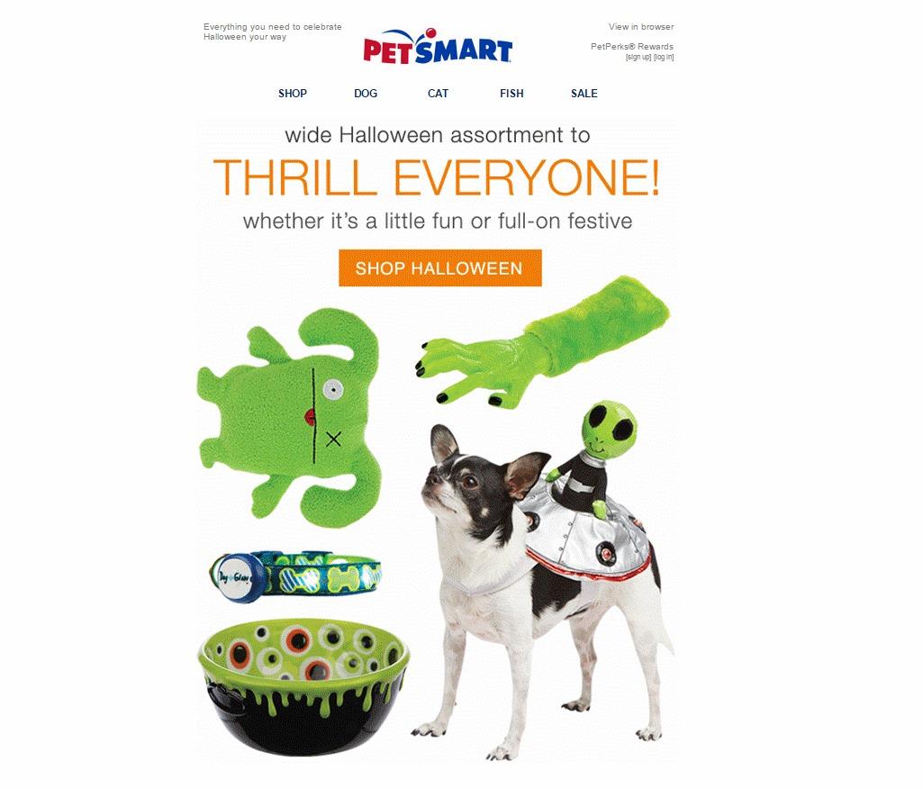 PetSmart Halloween ad