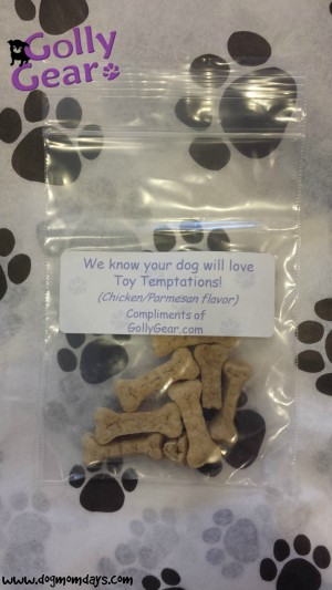 Golly Gear included a small bag of treats in our package!