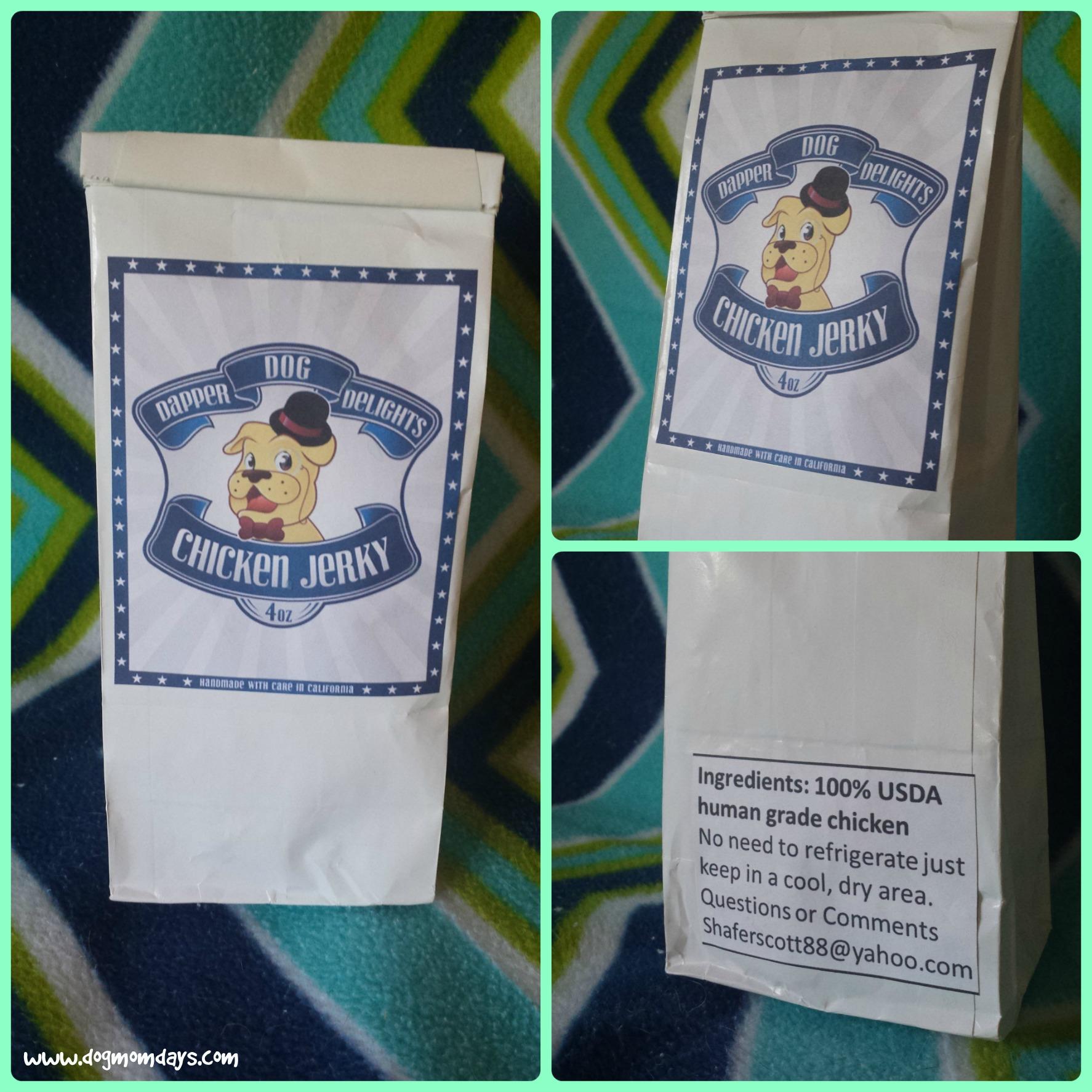 Dapper Dog Delights packaging.