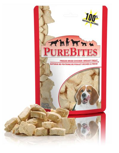 PureBites chicken breast treats.