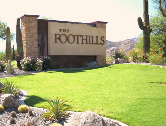 The sign entering into the Ahwatukee Foothills, where I grew up.