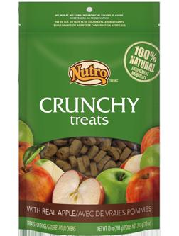 Nutro apple crunchy treats.