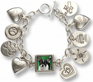 Zelda's Song charm bracelet with a photo of Wynston.