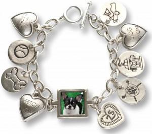 Zelda's Song charm bracelet with a photo of Wynston.