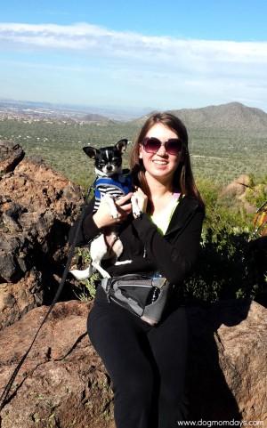 Wynston and I on a hike.