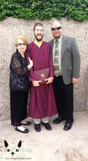 Matt with his Grandma and cousin at his ASU graduation.