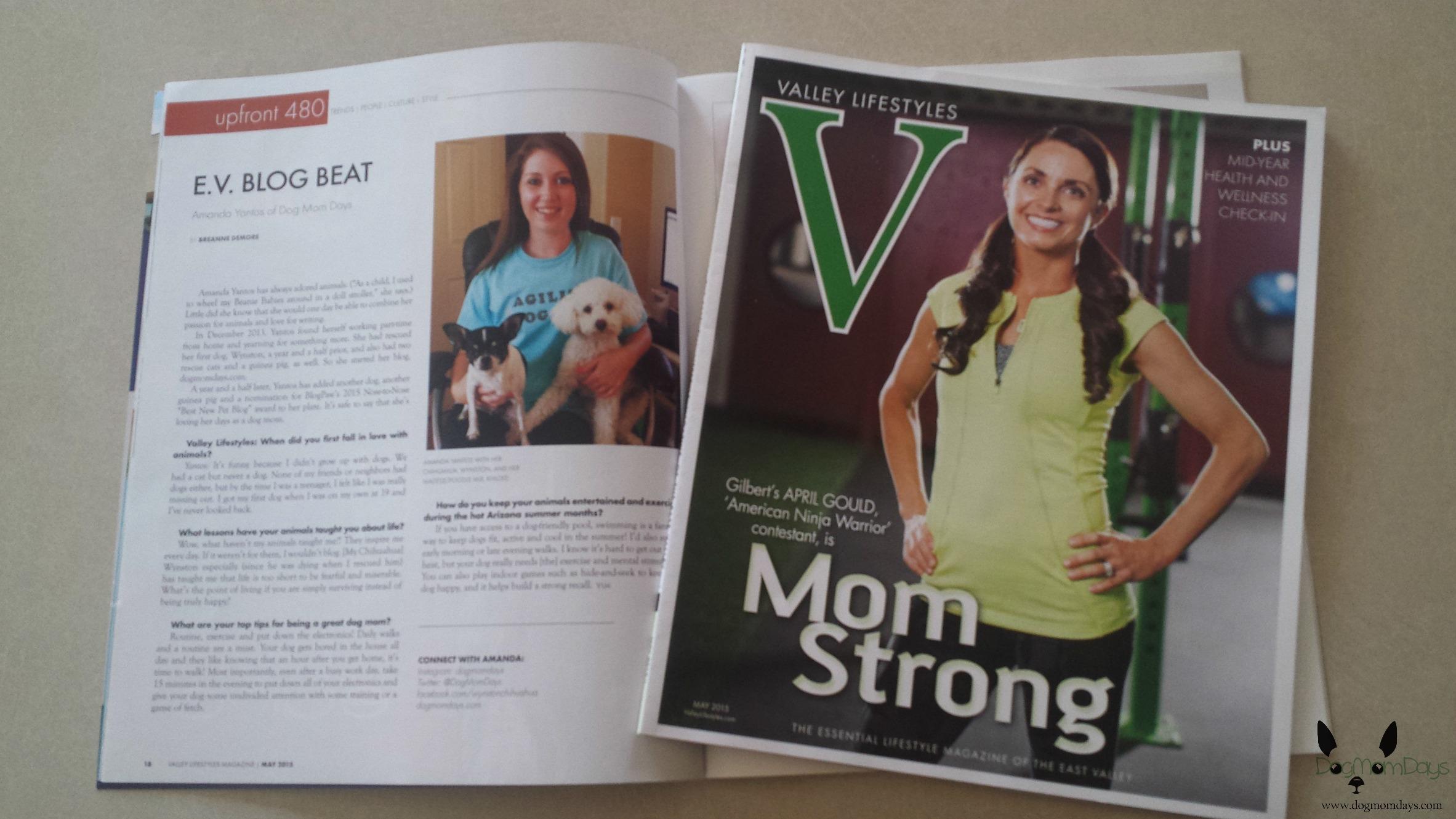 Dog Mom Days in Valley Lifestyles Magazine