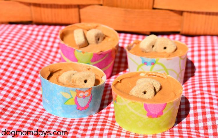 frozen peanut butter dog treats