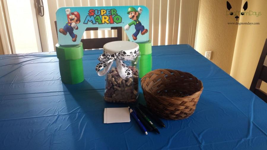 Super Mario dog party
