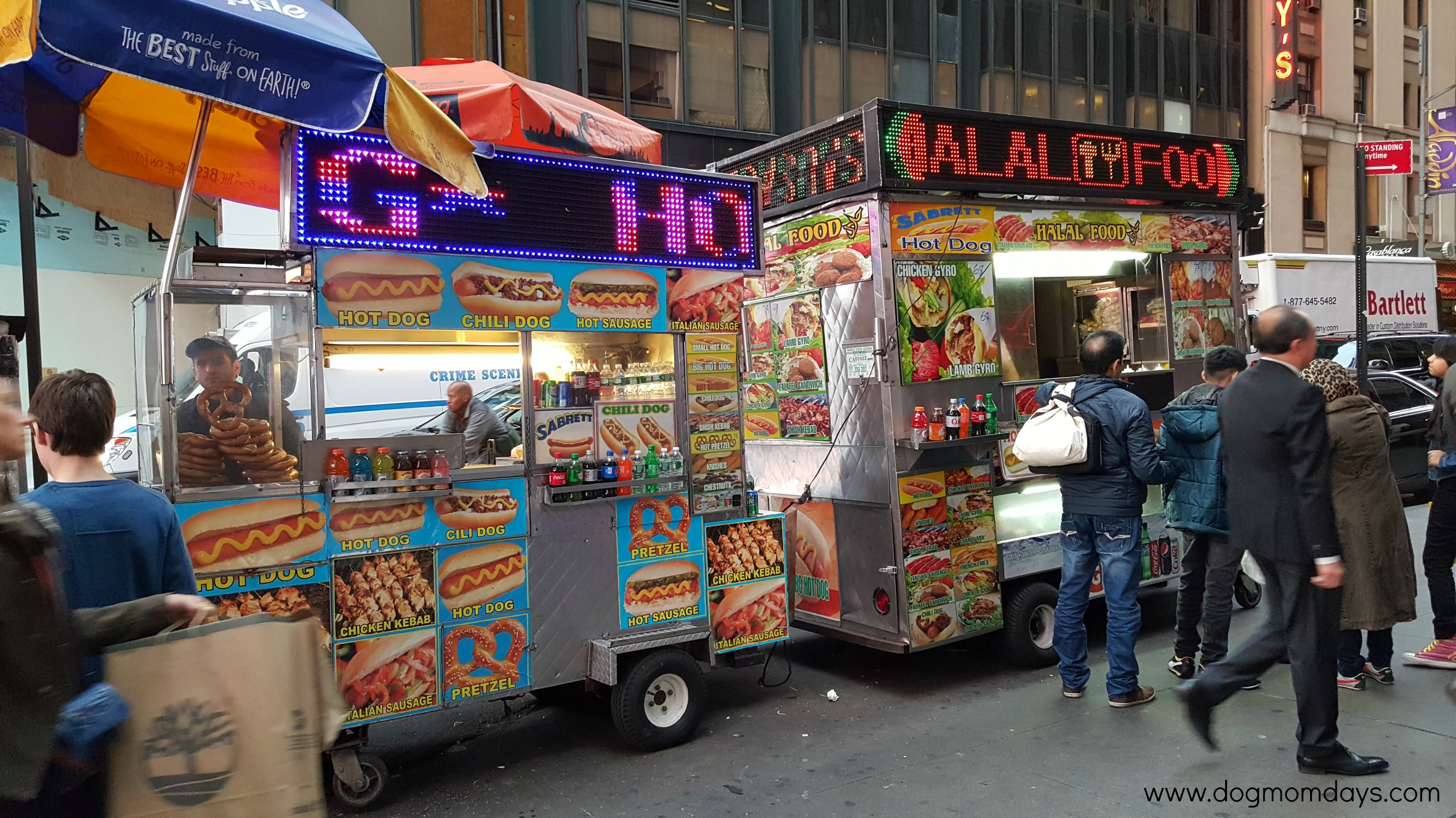 Times Square food carts