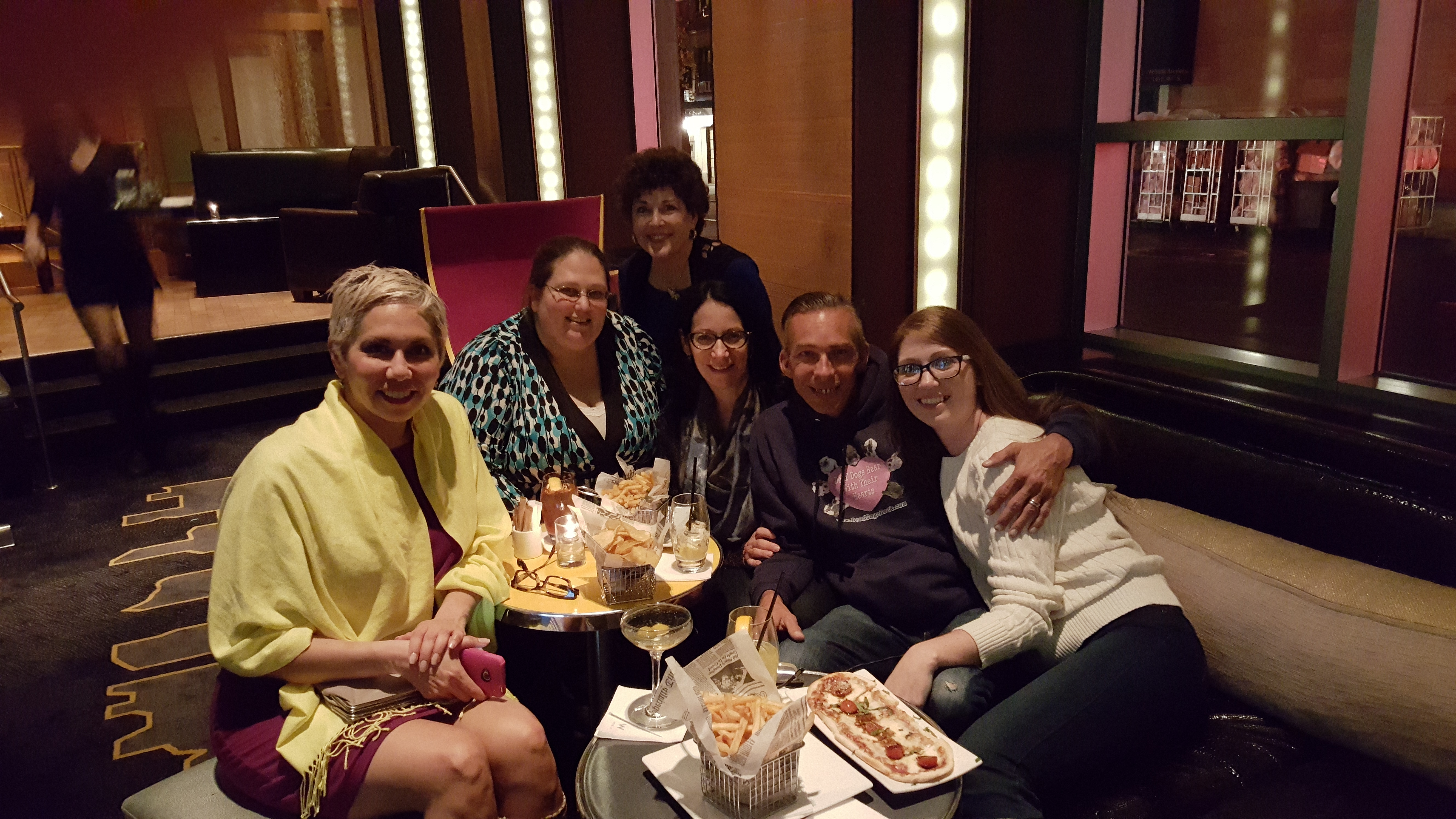 Me and my blogging friends at The W Hotel in NYC!