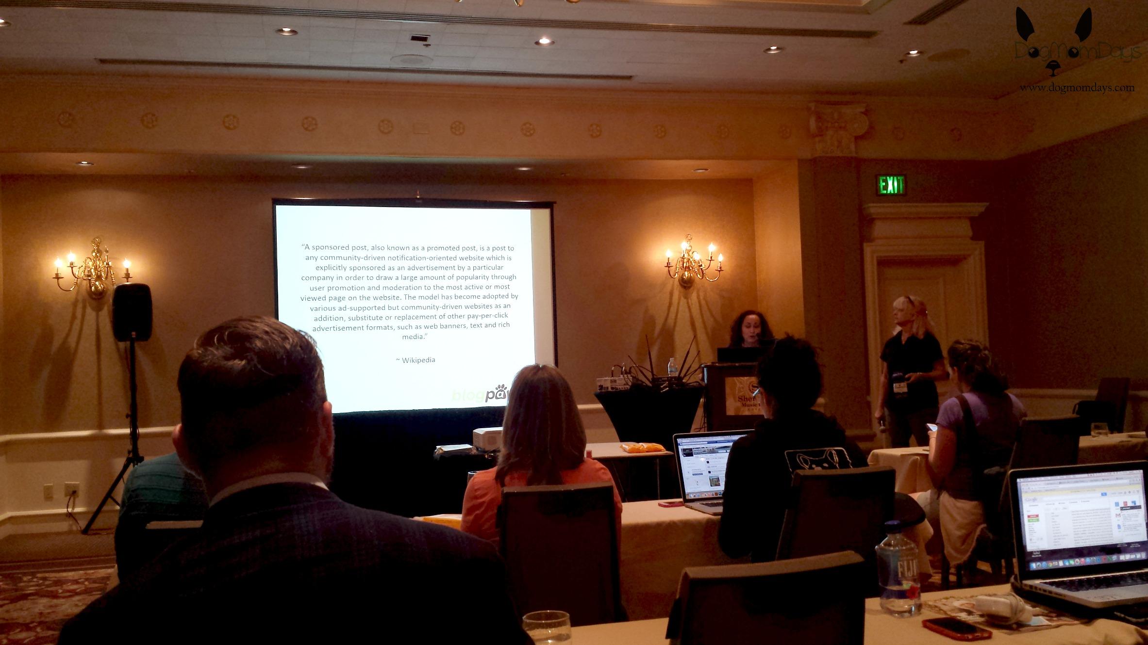 a workshop at BlogPaws 2015