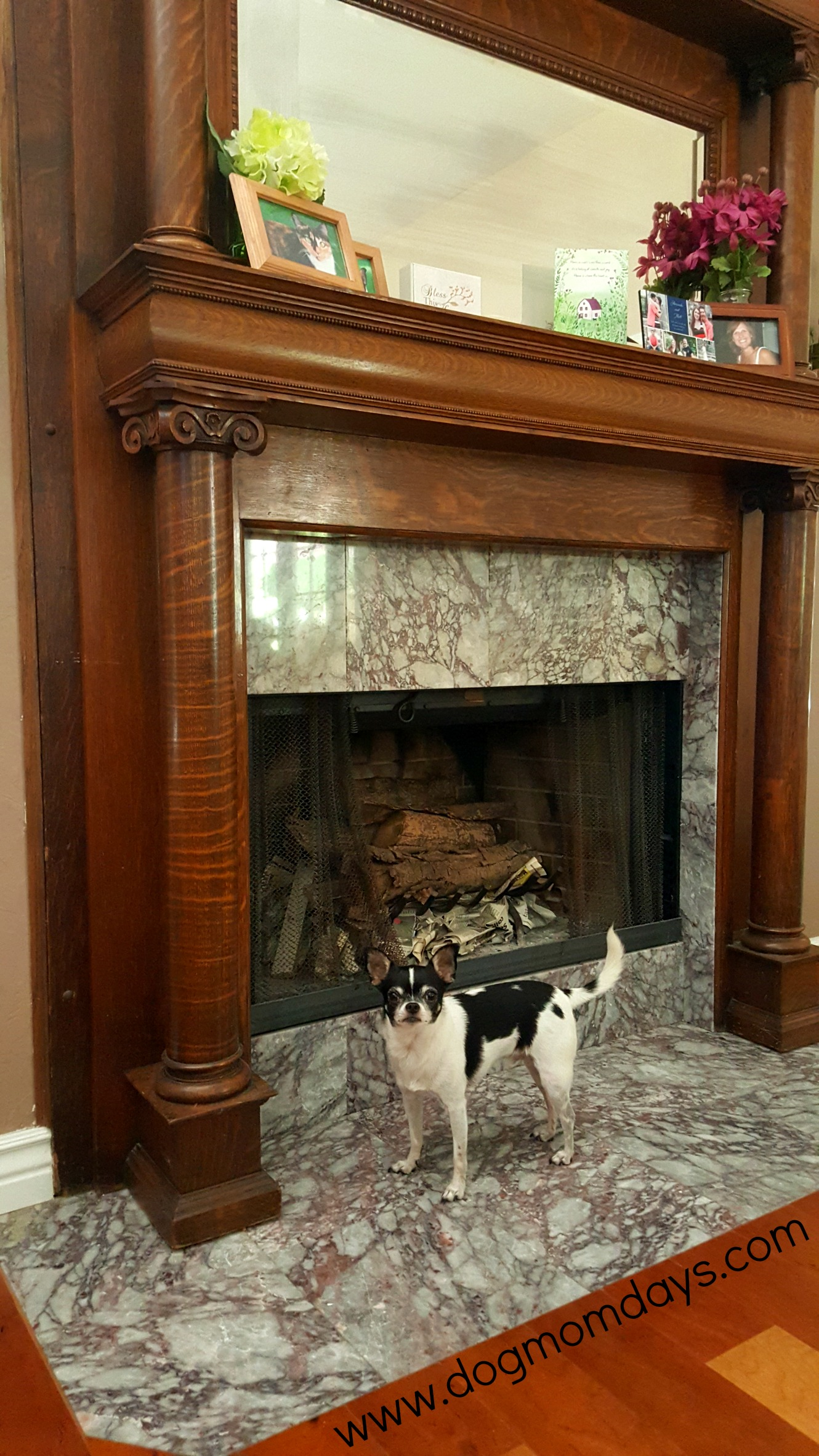 American Victorian antique mantle