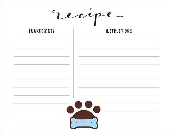 recipe cards from the Inspired Dog Mom Boutique