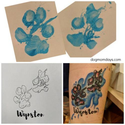 Wynston's paw prints