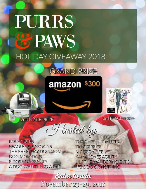 Purrs & Paws Holiday Giveaway